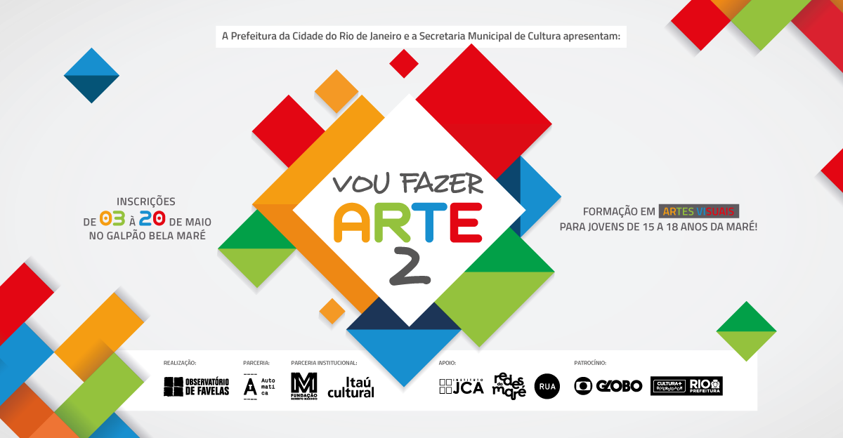 """Projeto """"fazer arte 2"""", no Galpão Bela Maré, recebe inscrições até dia 20"""
